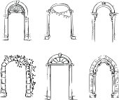 Set of arches. Architectural detail