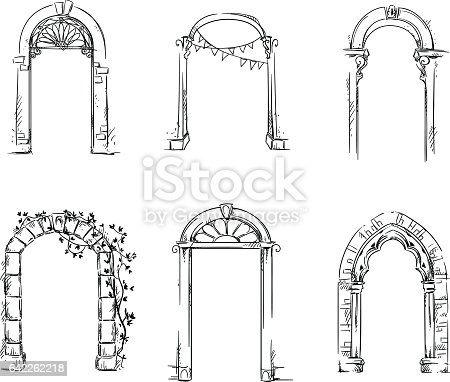 Set Of Arches Architectural Detail Stock Vector Art & More