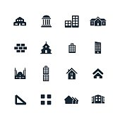 set of architecture icons