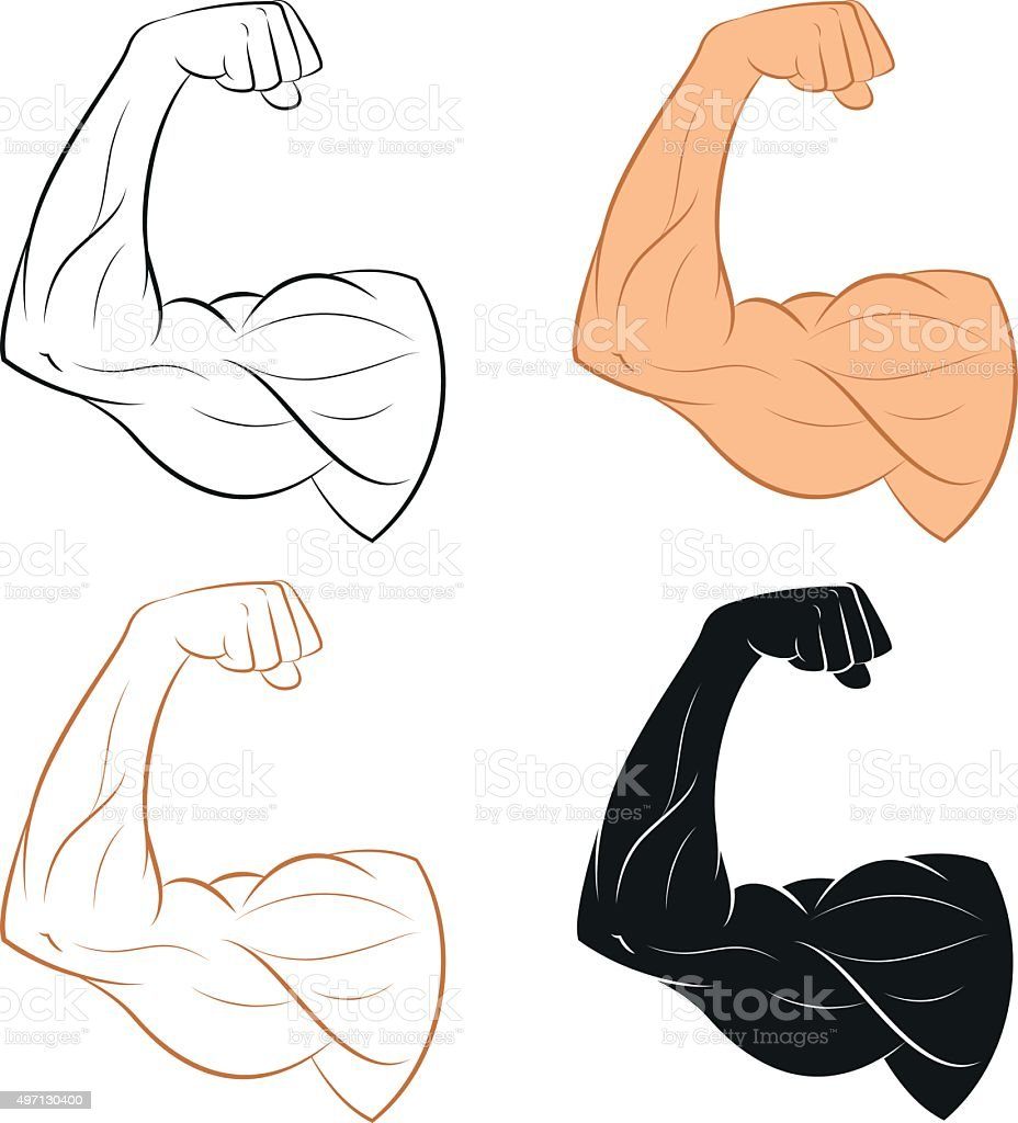 Set of Arm vector art illustration