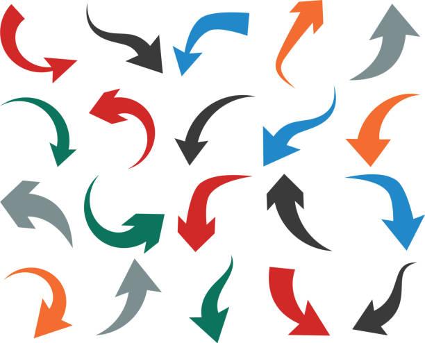 Satz von Pfeil Symbol. – Vektorgrafik