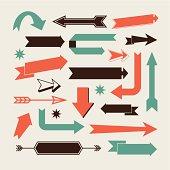 Set of arrows vector design