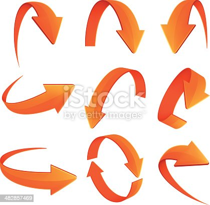 Set of Arrows on white background.