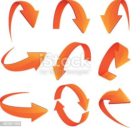 Set of Arrows on white background.