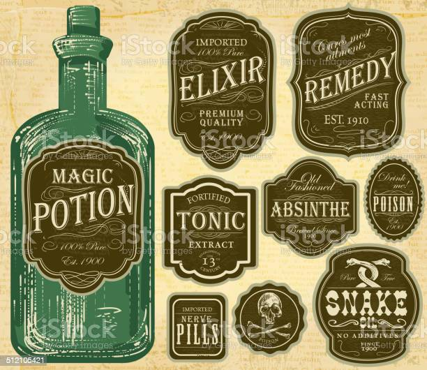 Set of assorted old fashioned green and brown labels bottles vector id512105421?b=1&k=6&m=512105421&s=612x612&h=0nainn2gekpz8ueypzscnxlebzu 9gcontuw qgmpke=