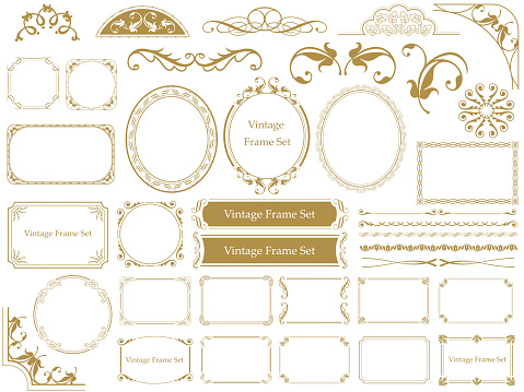 decorative frames and borders stock illustrations
