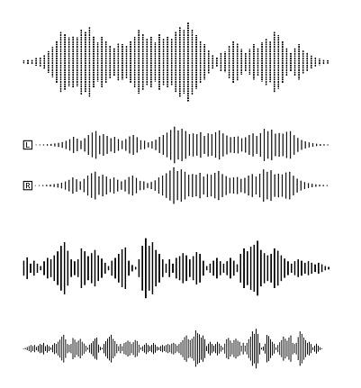 set of audio waveforms or sound waves