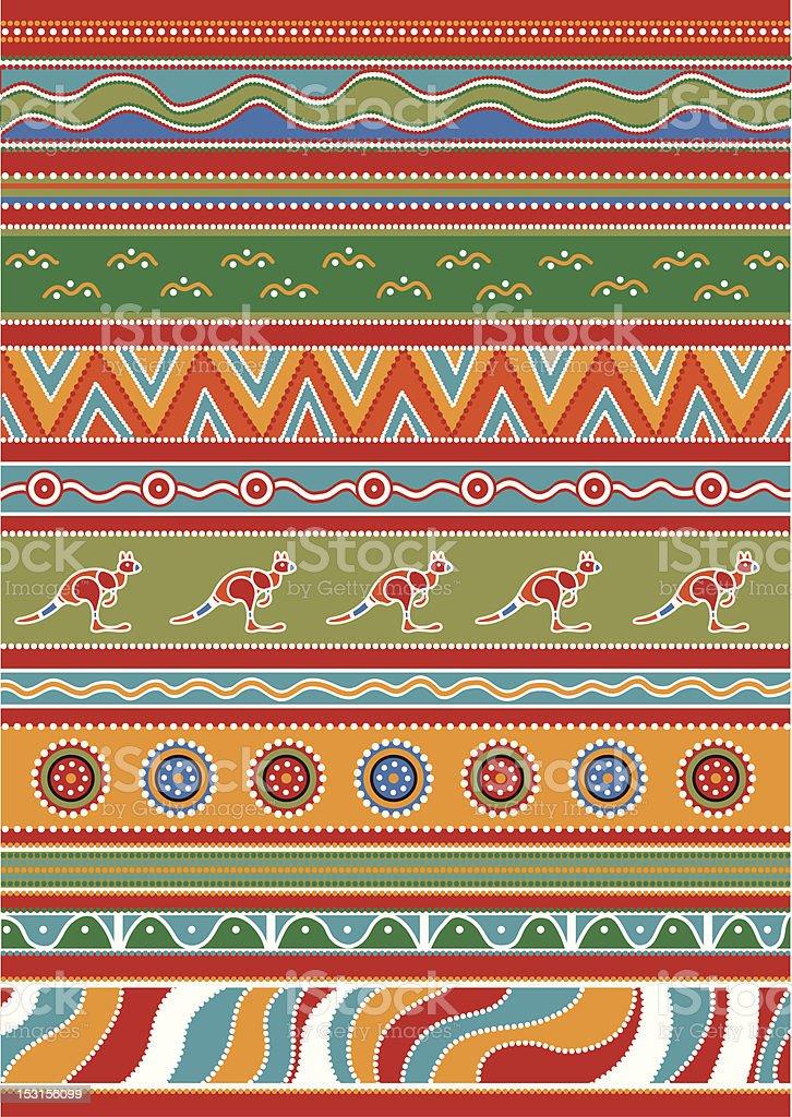 Set of Australian patterns royalty-free stock vector art