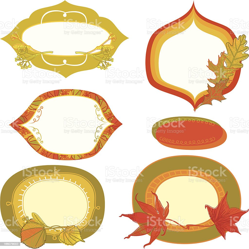 Set of Autumn Frames royalty-free set of autumn frames stock vector art & more images of abstract