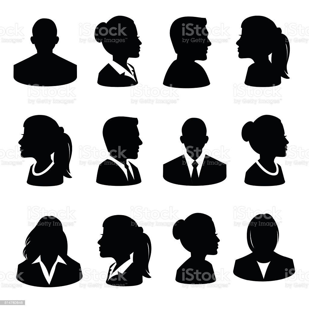 Set of Avatar Flat Icons - Illustration vector art illustration