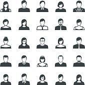 Vector illustration of the 25 set of avatar flat icons
