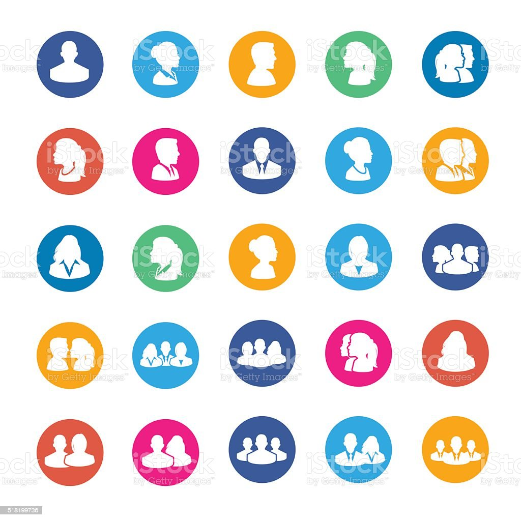 Set of Avatar Flat Icons royalty-free set of avatar flat icons stock vector art & more images of abstract