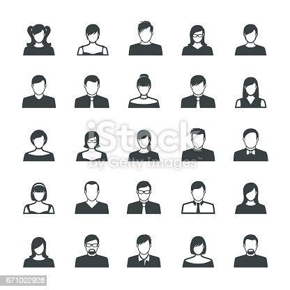 Vector illustration of the avatar flat personages of the people.