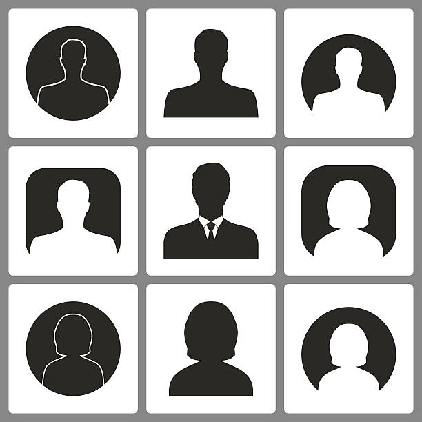 bildbanksillustrationer, clip art samt tecknat material och ikoner med set of avatar icons. - profile photo