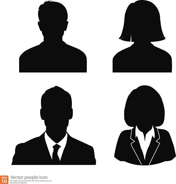Set of avatar profile picture vector art illustration