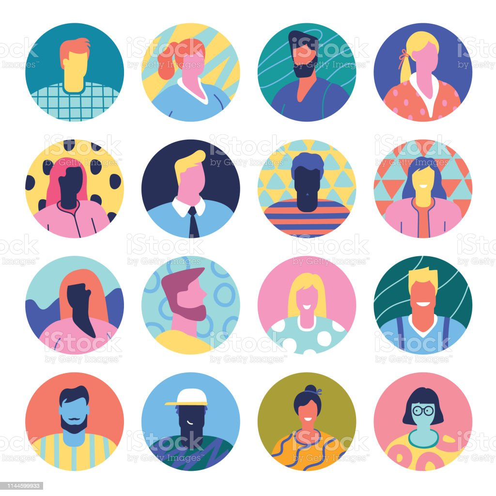 Set of avatars - Royalty-free Adult stock vector