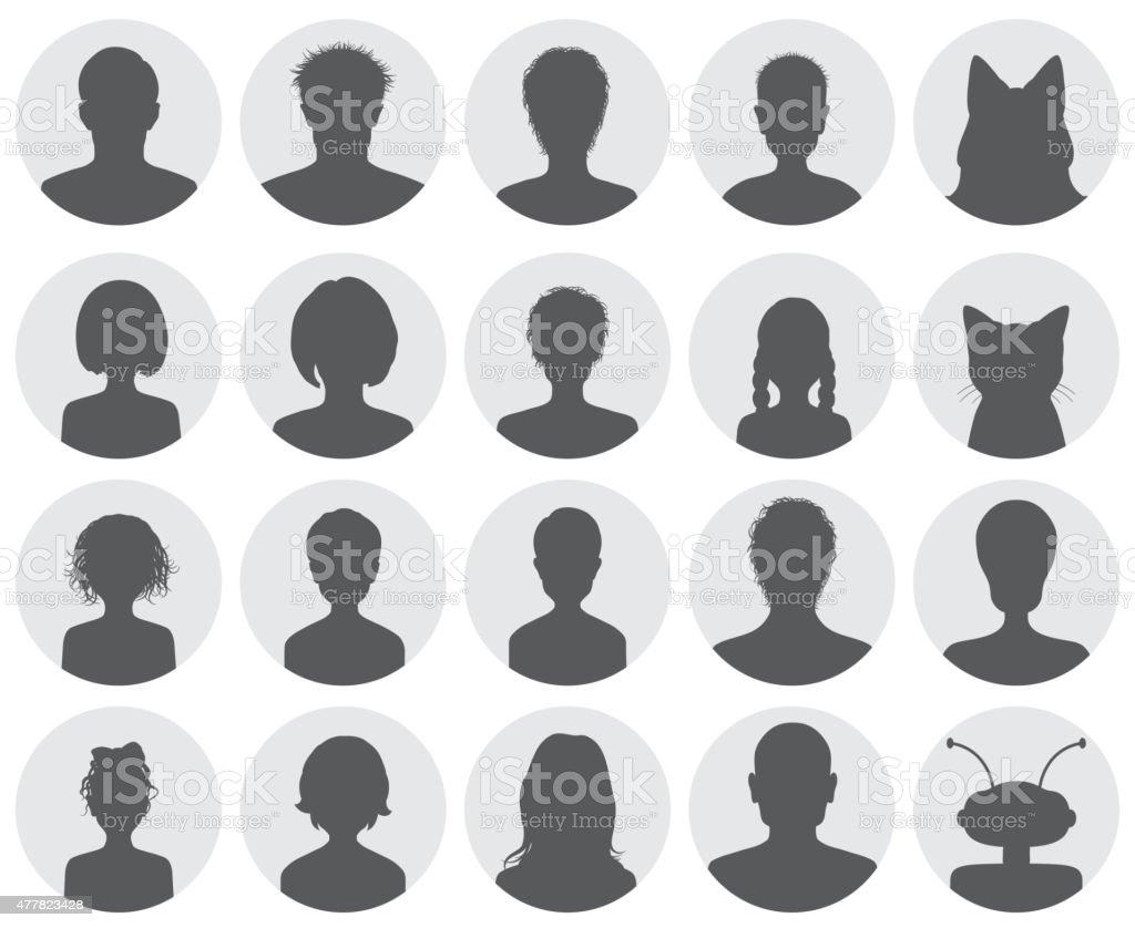 Set of avatars vector art illustration