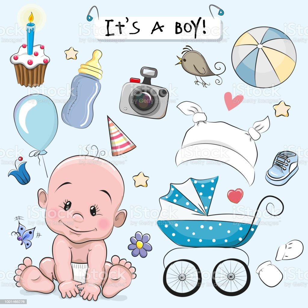 Ilustración de Conjunto De Elementos De Diseño De Bebé y más banco ... 90f30e3eedbf