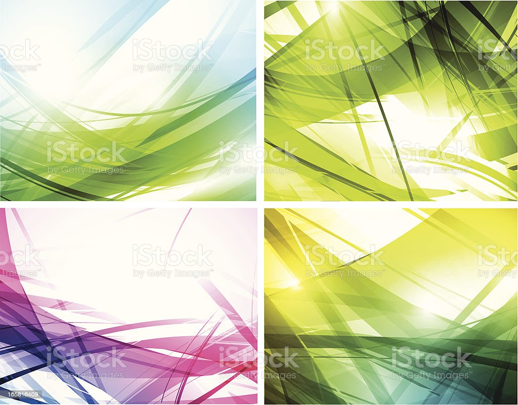 Set of backgrounds royalty-free stock vector art