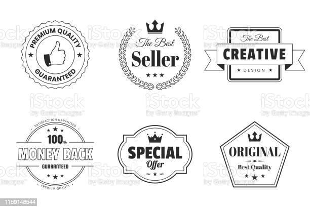 Set of badges and labels design elements vector id1159148544?b=1&k=6&m=1159148544&s=612x612&h=ds0fl7rkfbdgpf5t1mptlcqvcubpclwb t7teppav4s=