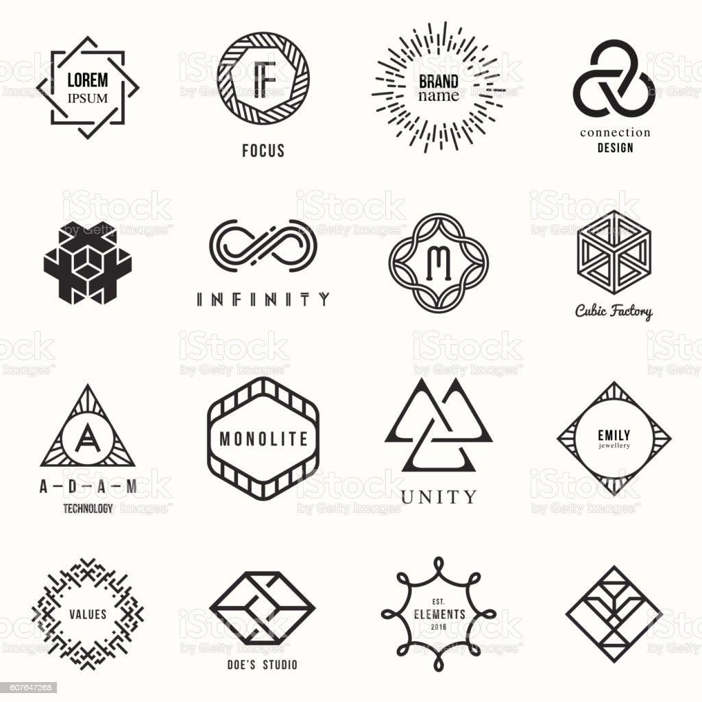 Set of badges and labels elements ilustración de set of badges and labels elements y más vectores libres de derechos de a la moda libre de derechos