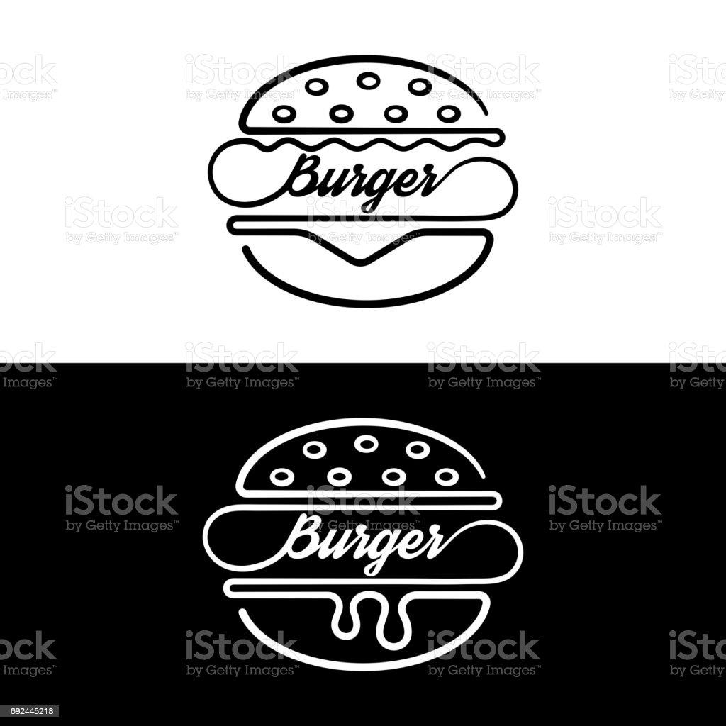 Set of badges sandwich vector art illustration