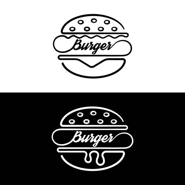 illustrations, cliparts, dessins animés et icônes de jeu de sandwich de badges - burger