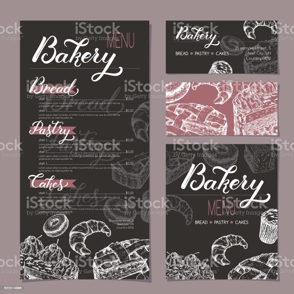 Carte Boulangerie.Ensemble De Modeles Boutique Boulangerie Avec Menu Cartes De Visite