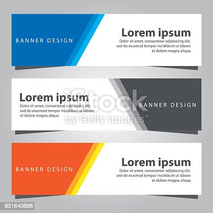 Set of banner templates business banner template stock vector art set of banner templates business banner template stock vector art more images of abstract 931640698 istock flashek Choice Image