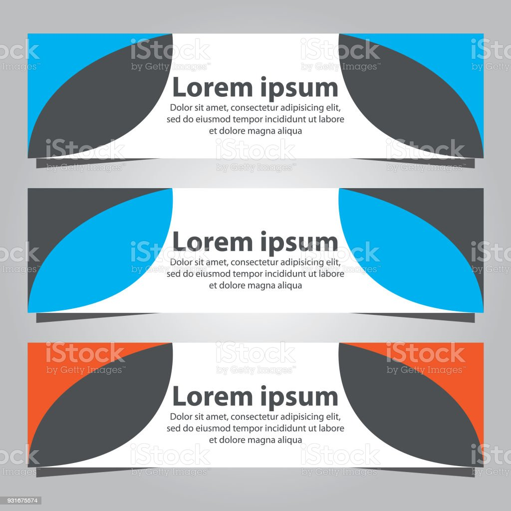 Set of banner templates business banner template stock vector art set of banner templates business banner template royalty free set of banner templates business flashek Choice Image
