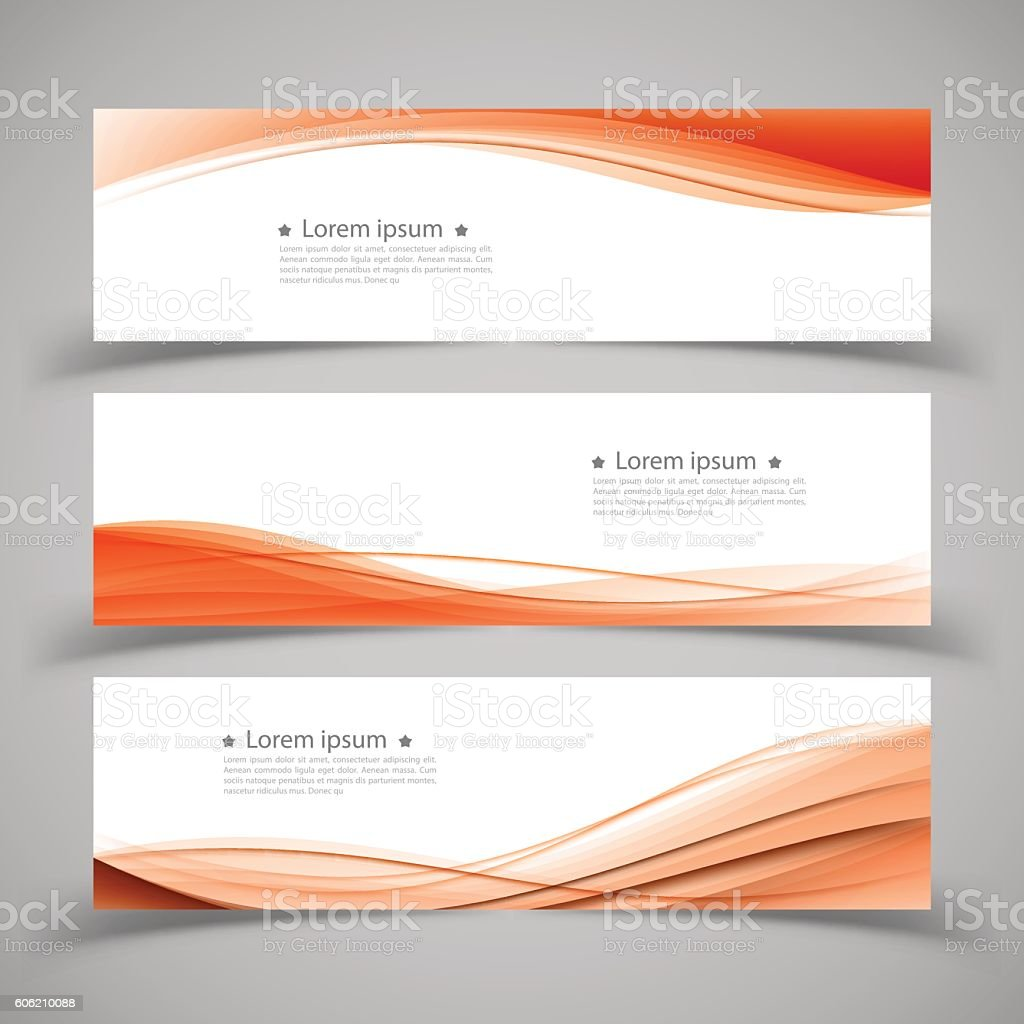 Set of banner templates. modern abstract design. vector art illustration