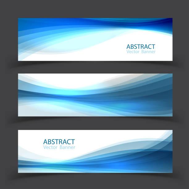stockillustraties, clipart, cartoons en iconen met set banner sjablonen.  modern abstract vectorillustratie ontwerp. - golvend haar