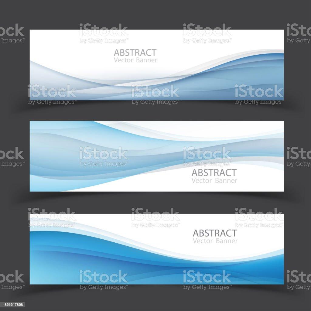 Ensemble de modèles de bannière.  Conception de Vector Illustration abstraite moderne. - Illustration vectorielle