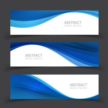 Set of banner templates.  Modern abstract Vector Illustration design.