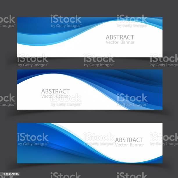 Set Of Banner Templates Modern Abstract Vector Illustration Design - Arte vetorial de stock e mais imagens de Abstrato