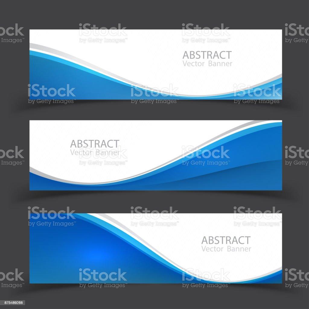 Set of banner templates.  Modern abstract Vector Illustration design. vector art illustration