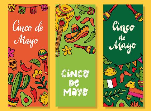 Set of banners for Cinco de Mayo
