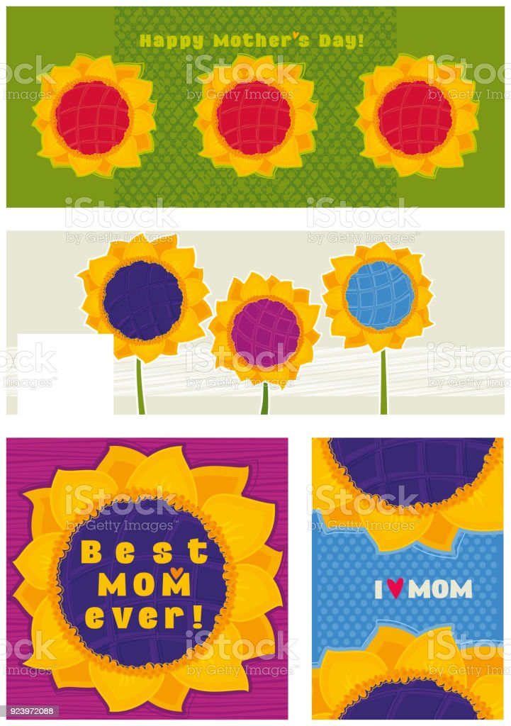 Set of banners for Mother's Day royalty-free set of banners for mothers day stock vector art & more images of backgrounds