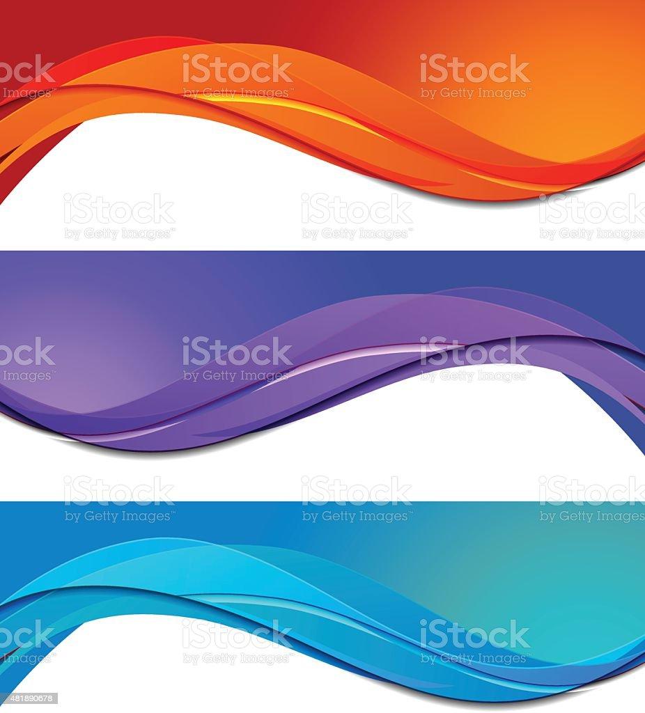 Set of banners vector art illustration