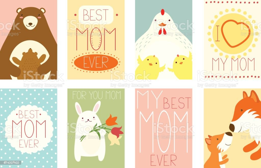 Set of banners with cute animals vector art illustration