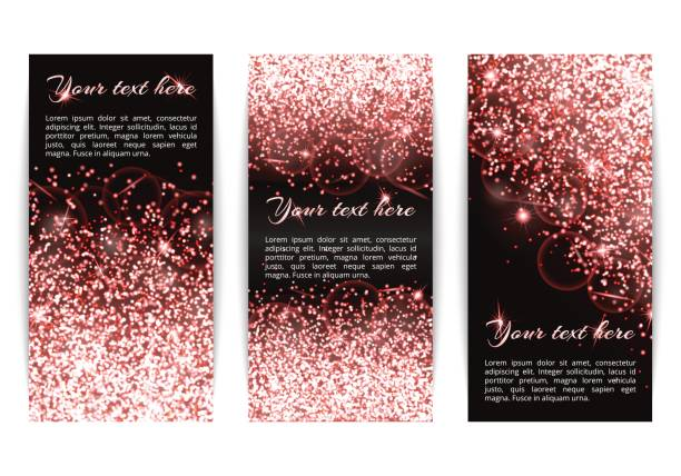 set of banners with dazzling pink lights - bachelorette party stock illustrations, clip art, cartoons, & icons