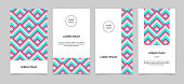 Set of banners with geometric abstract design.