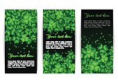 Set of banners with shamrocks