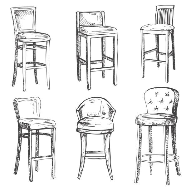 Royalty Free Bar Stool Clip Art, Vector Images