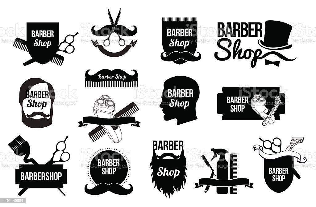 の理髪店のロゴをデザインしております 2015年のベクターアート素材や