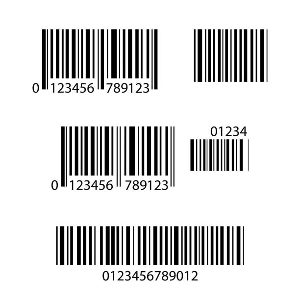 Set of Barcode icons,isolated on white background vector art illustration