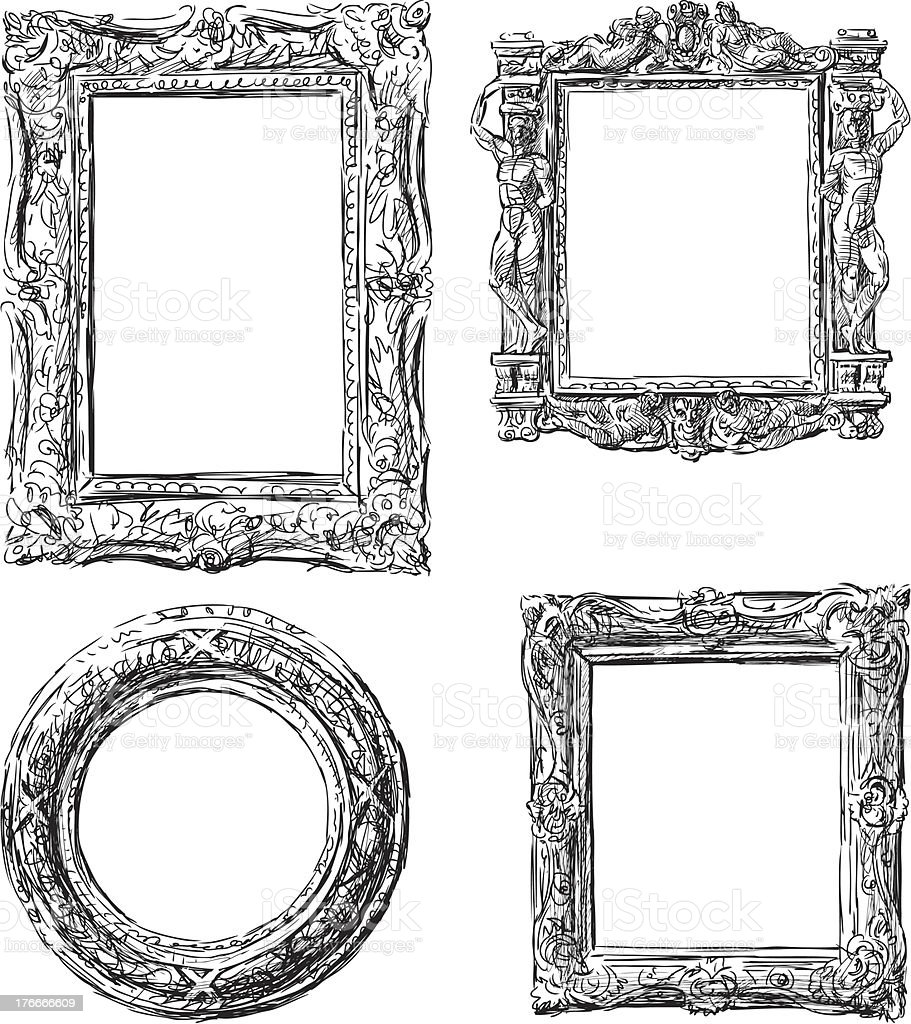 set of baroque frames royalty-free set of baroque frames stock vector art & more images of ancient