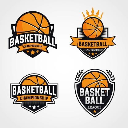 Set of basketball logos emblem and badges identity