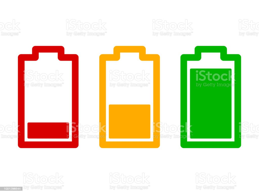 Set Of Battery Charge Level Indicator Stock Vector Art Royalty Free