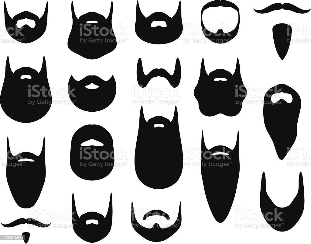 Set Of Beard Silhouett...